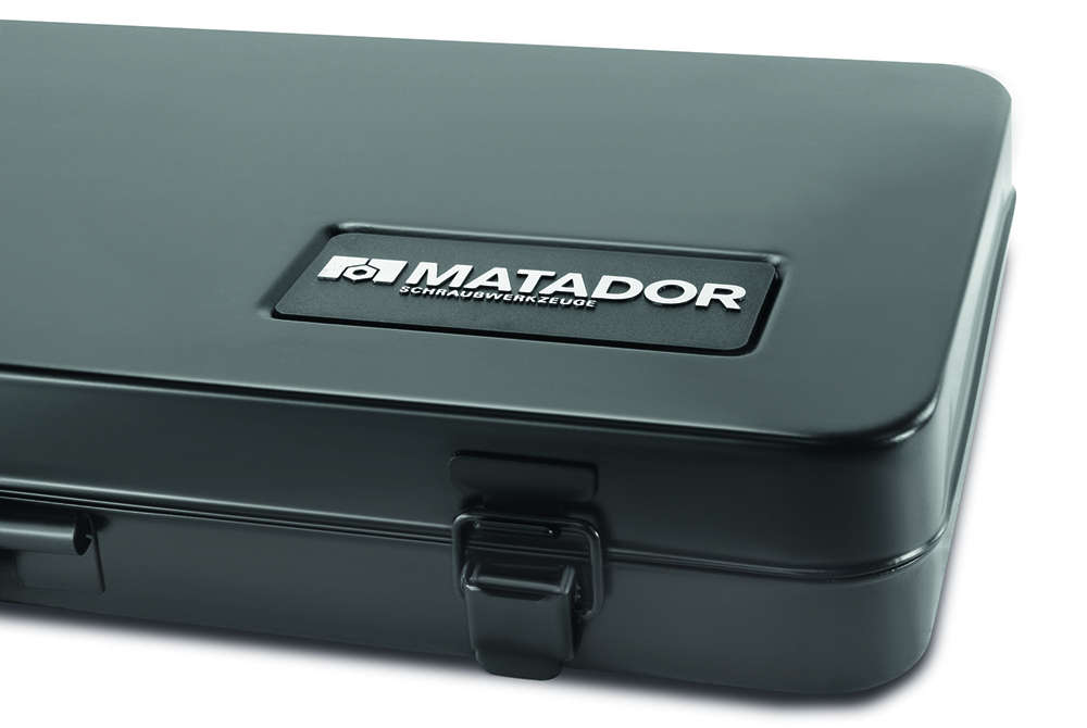 Im stabilen Stahlblechkasten, dauerhafte Qualität und pulverbeschichtet von MATADOR.