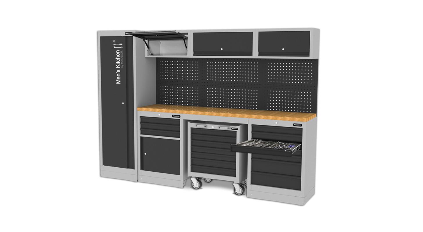 Men's Kitchen: MOBILO, 2.817 x 1.980 mm, MATADOR