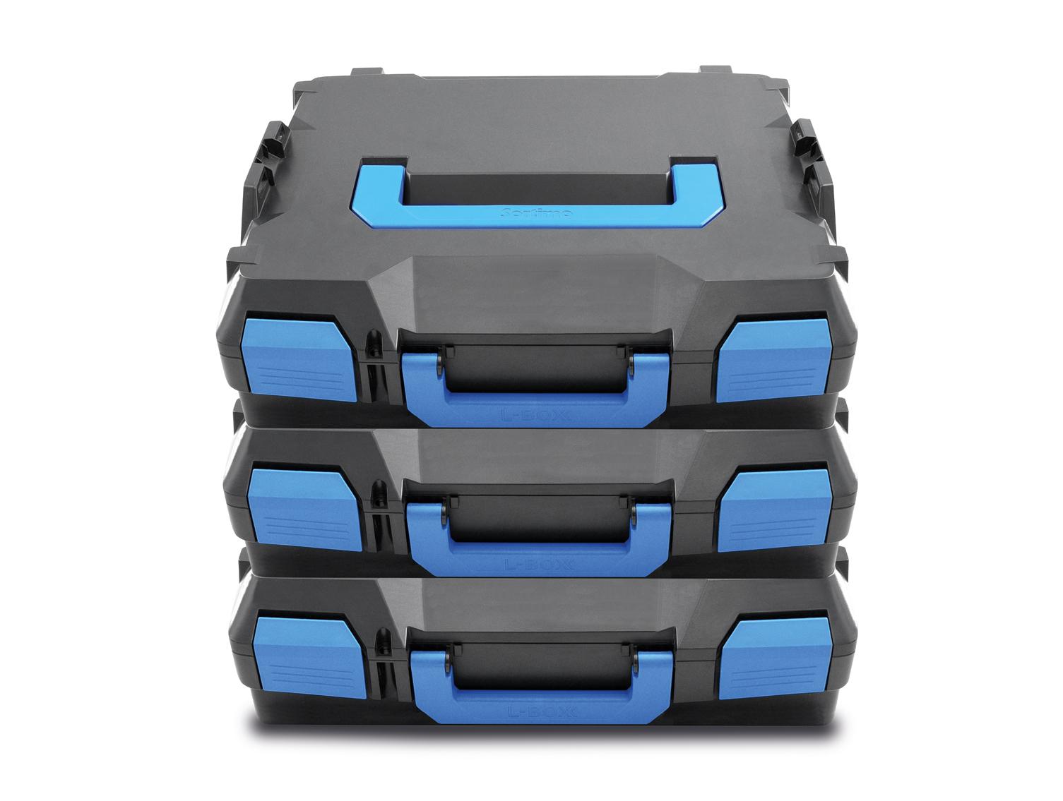 Stapelbar durch einfaches Verklicken und Trennen der Boxen.