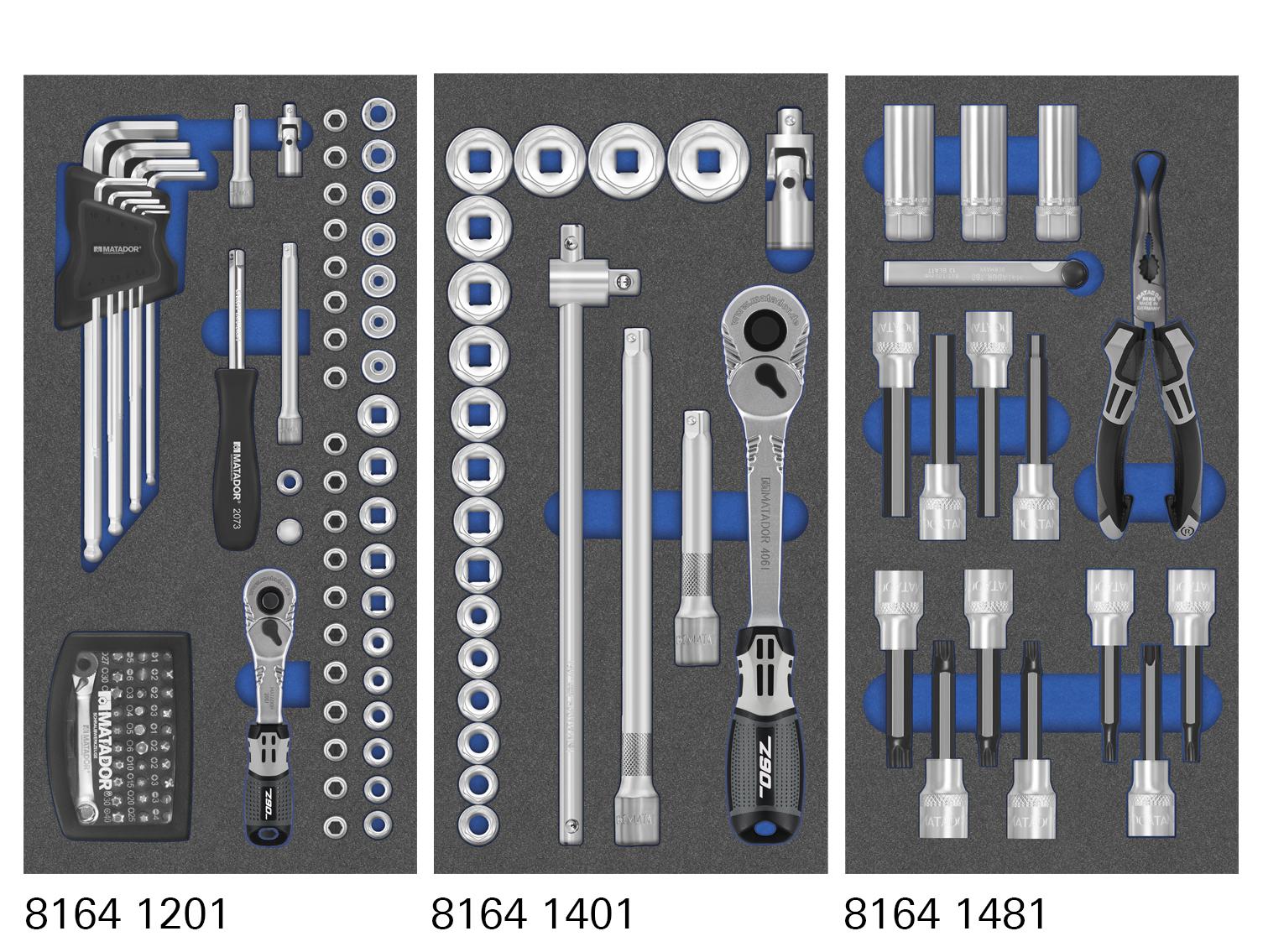 MTS-Modul mit Knarren- und Steckschlüsseleinsätzen.