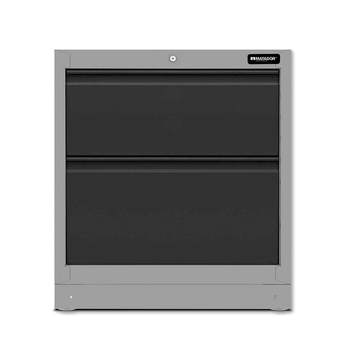 Men's Kitchen: Schubladenschrank L 2 Schubladen, 861 x 960 x 500 mm, MATADOR 81523406