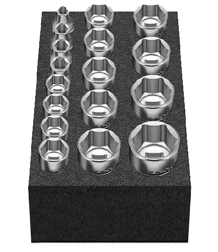 """Cube L: Steckschlüsselsatz 17-tlg. 6-22 mm 10 mm (3/8"""") MATADOR 81503075"""