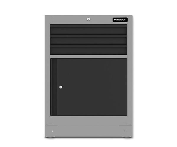 Men's Kitchen: Schubladenschrank 3 Schubladen, 1 Flügeltür, 676 x 960 x 500 mm, MATADOR 81522602