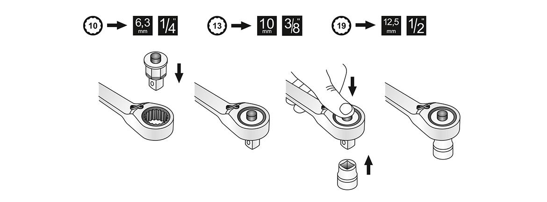 Adapter für Ratschenschlüssel, MATADOR 01860010