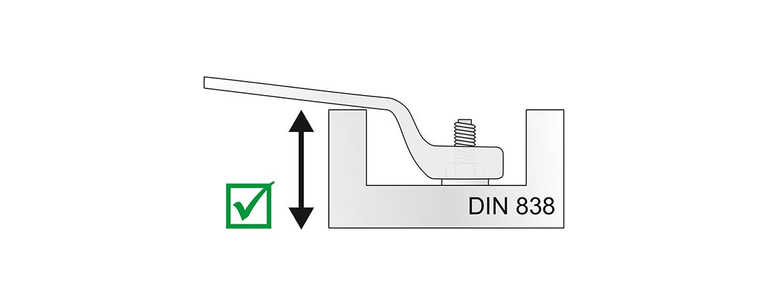 Mit gekröpfter Ringseite nach DIN 838.