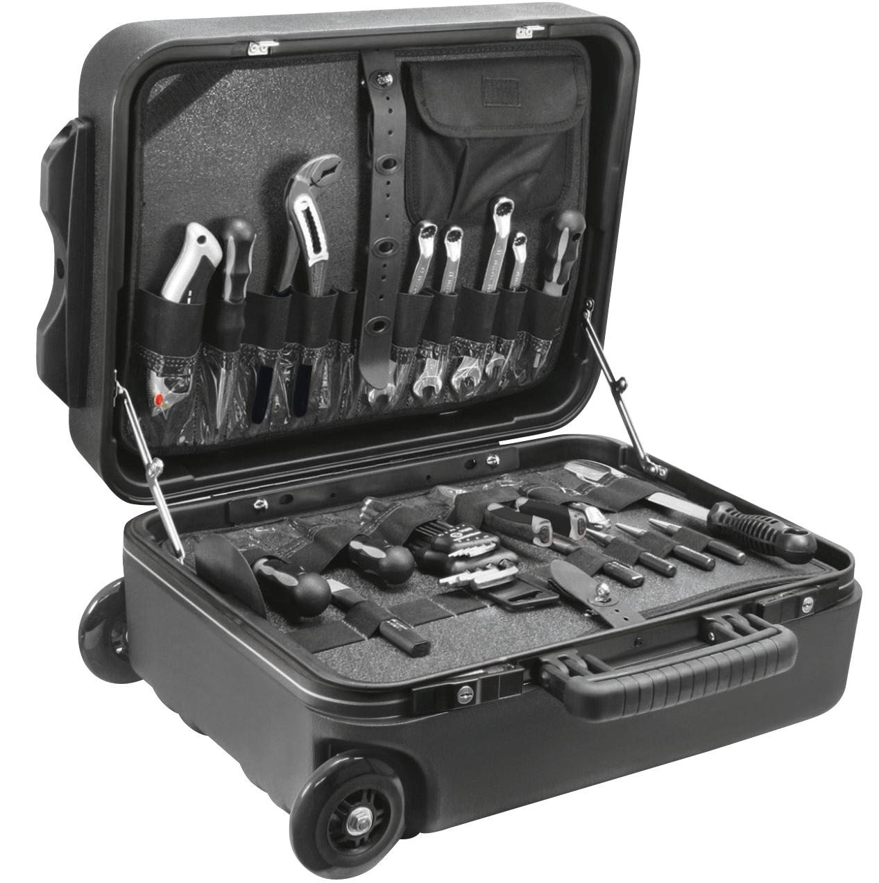 Werkzeugkoffer mit praktischer Unterteilung.