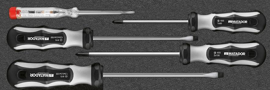 Rüttelfeste Platzierung der Werkzeuge in passgenauer Weichschaumeinlage.