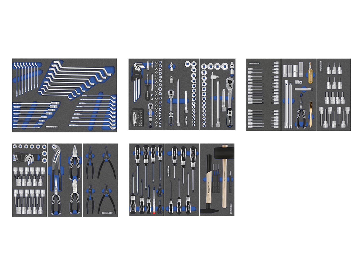 Werkzeugsatz AUTOMOTIVE PRO 297-tlg., MATADOR 81789580