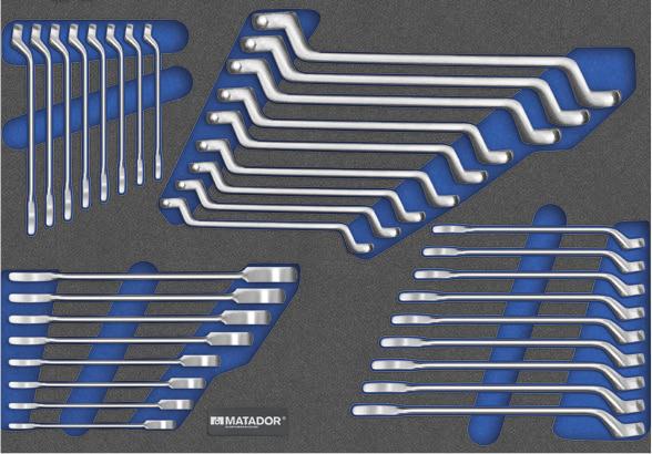 Schraubenschlüssel-Satz mit Ringmaulratschenschlüsseln 81641195.