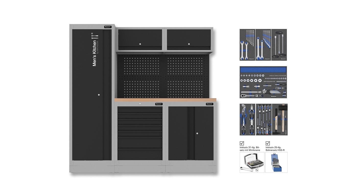 Men's Kitchen: COMPACT 170-tlg. 1.956 x 1.980 mm MATADOR