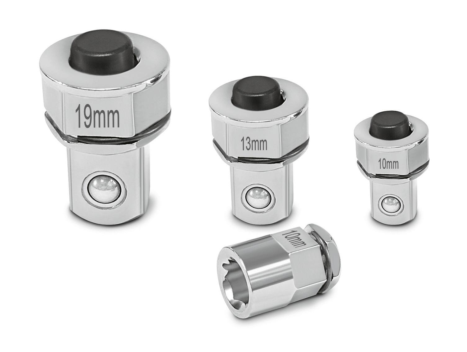 Knarrenadapter für die Verwendung von Steckschlüsseln und Bits.