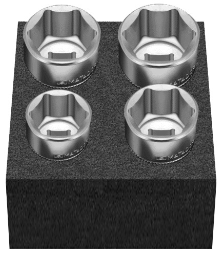 """Cube M: Steckschlüsselsatz 4-tlg. 24-32 mm 12,5 mm (1/2"""") MATADOR 81504175"""