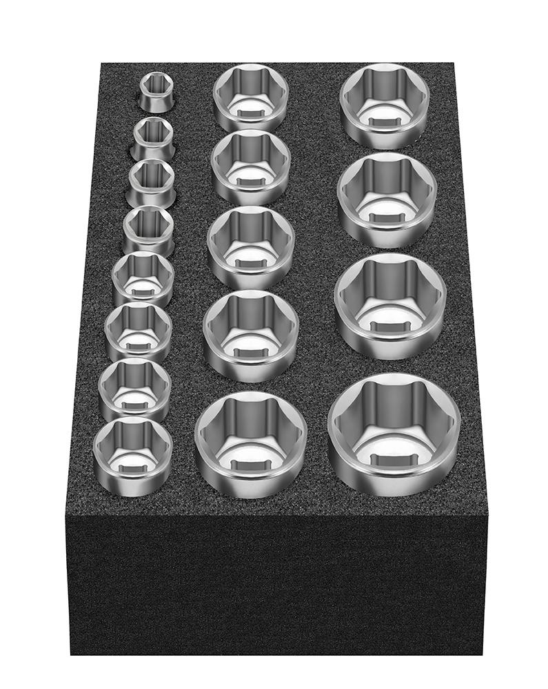 """Cube L: Steckschlüsselsatz 15-tlg. 8-22 mm 12,5 mm (1/2"""") MATADOR 81504075"""