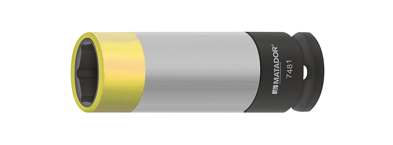 Farblich codiert nach Schlüsselweite (19mm).