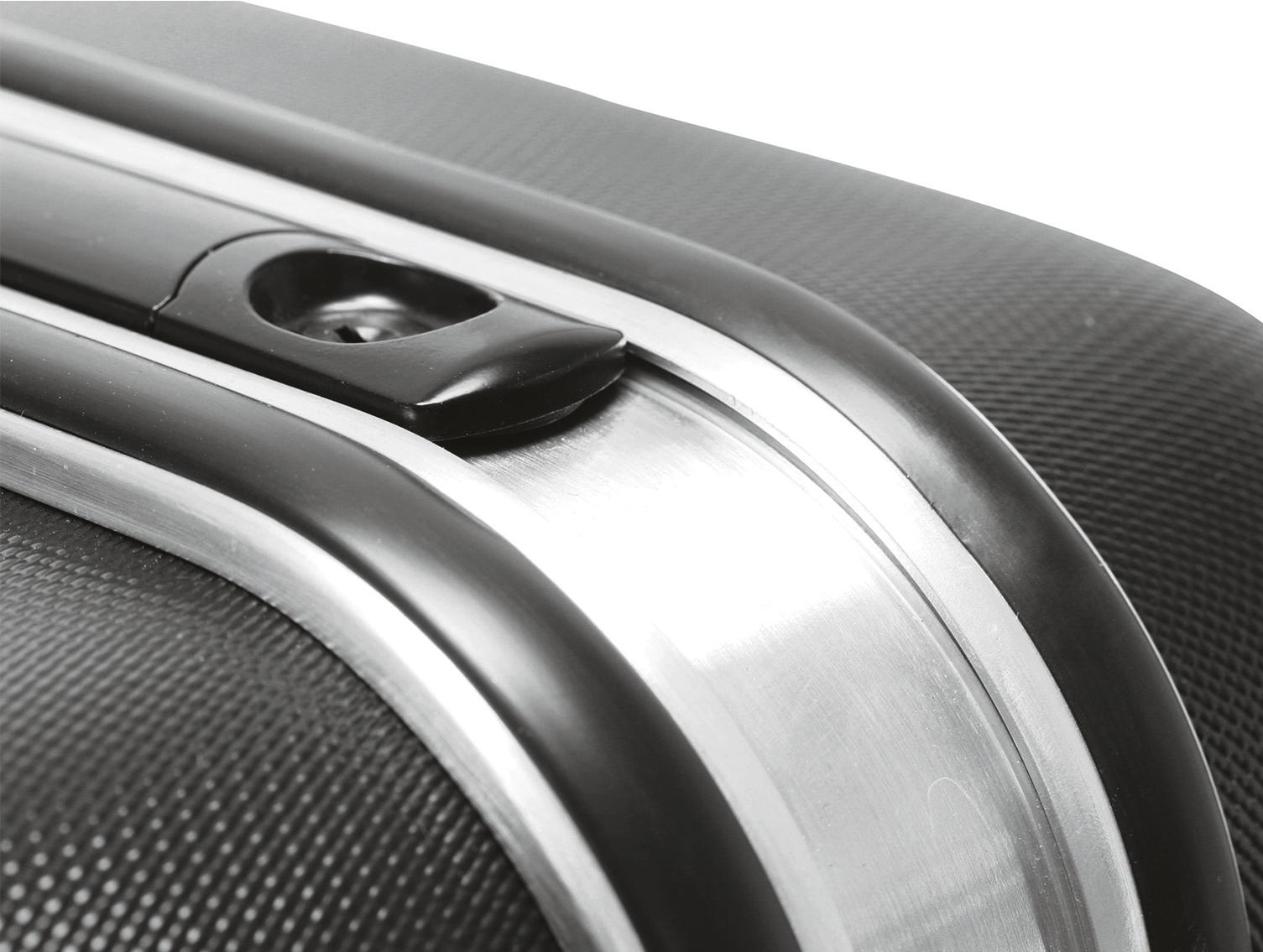 Werkzeugkoffer ABS mit stabilen Metallscharnieren für dauerhafte Haltbarkeit.