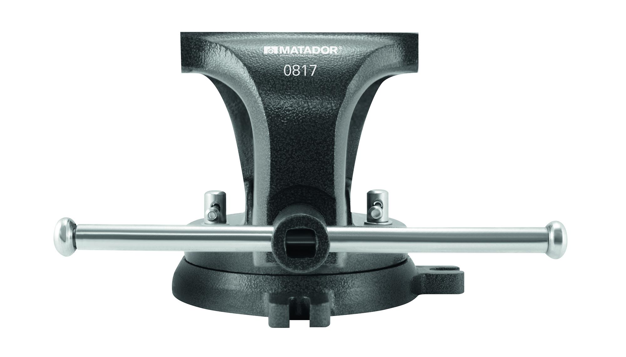 Vollständig aus hochwertigem Stahl geschmiedeter Parallelschraubstock von MATADOR.