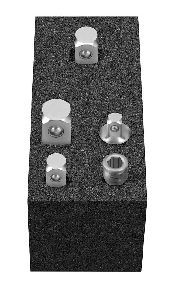 Cube XS: Steckschlüssel-Adaptersatz 5-tlg., 6,3(1/4) - 10(3/8) - 12,5(1/2), MATADOR 81502085