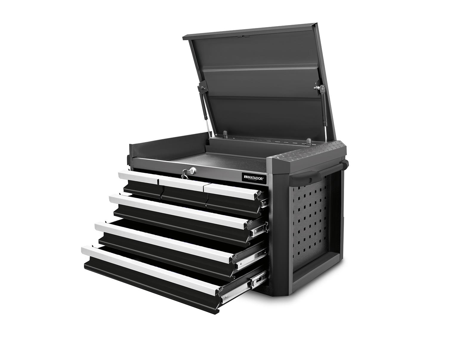 Alle Schubladen mit 100% Vollauszug, mit je 40 kg belastbar.