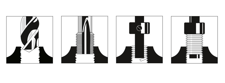 Gewinde-Reparatur-Sortiment PRO, MATADOR 07740401