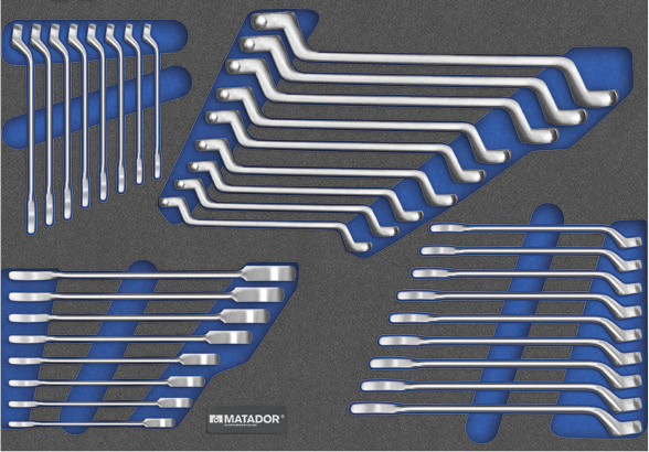 Schraubenschlüssel-Satz mit Ringmaulratschenschlüsseln 81641195
