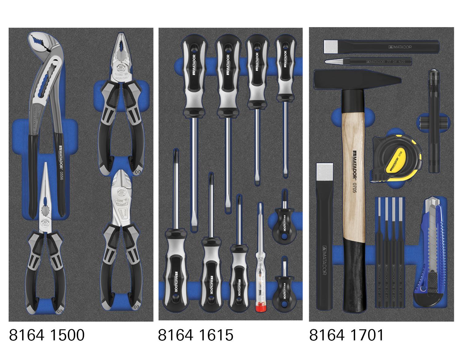 MTS-Module mit allgemeinen Werkzeugen.
