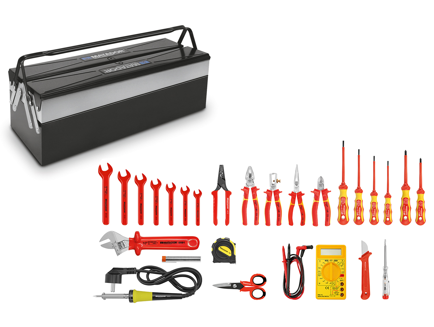 Ein praktischer Allround-Werkzeugsatz mit 26 Werkzeugen von MATADOR.